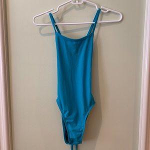 Jolyn Swim Tie Back Onesie Light Blue 30